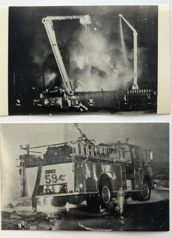 Philadelphia Bureau Of Fire Eng. #59 and Ladder #18 /Engine 72 Squirt Post Cards