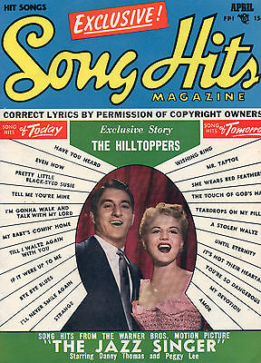 April 1953 Song Hits Magazine Danny Thomas & Peggy Lee Cover
