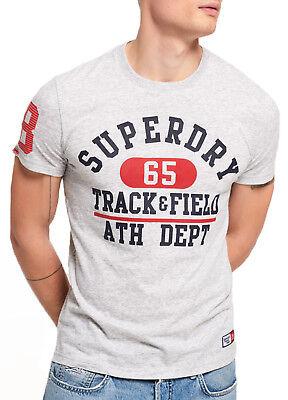 Superdry Trackster Lite Crew Neck T-shirt Print Crew Neck Cotton Tee Silver Marl