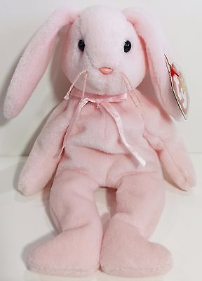 "TY Beanie Babies ""HOPPITY"" the Pink Easter Bunny RABBIT - MWMTs! RETIRED! GIFT! for sale  Shipping to India"