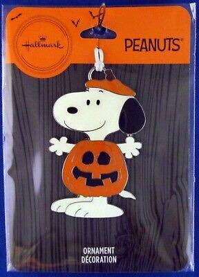 2020 Hallmark Flat Metal Halloween Ornament New Peanuts Jack-O'Lantern SNOOPY