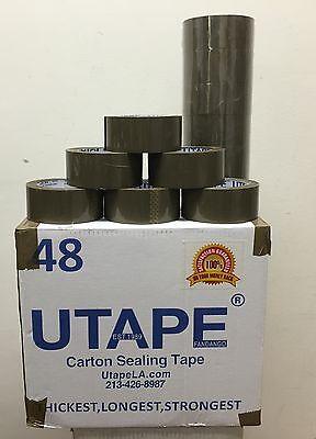 3 Rolls Brown Box Carton Sealing Packing Tape 2x330 1.8mil Utape Brand Tape