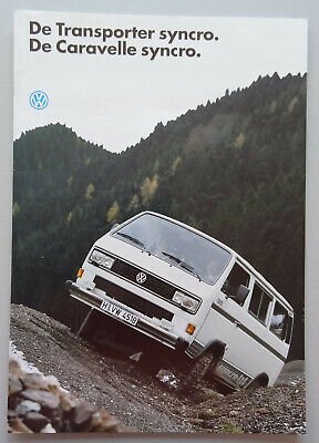 V19560 VOLKSWAGEN T3 SYNCRO TRANSPORTER & CARAVELLE - CATALOGUE - 08/91 - A4 -NL