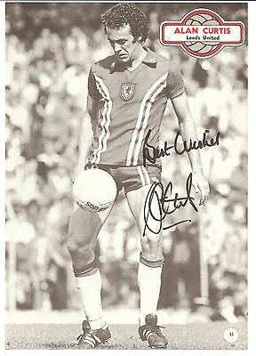 Alan Curtis Wales signed B/W football book picture. 10.5 x 7.5 inches.