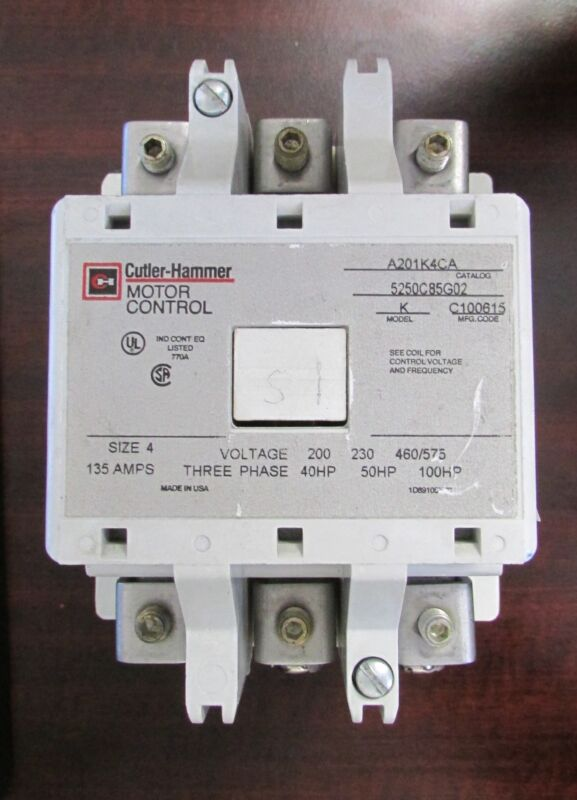 EATON CUTLER HAMMER Contactor 120V Coil 135 Amp Size 4 A201K4CA