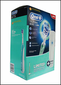 RECHARGEABLE BRAUN ORAL-B TRIZONE 600 ELECTRIC POWER TOOTHBRUSH + TRAVELCASE
