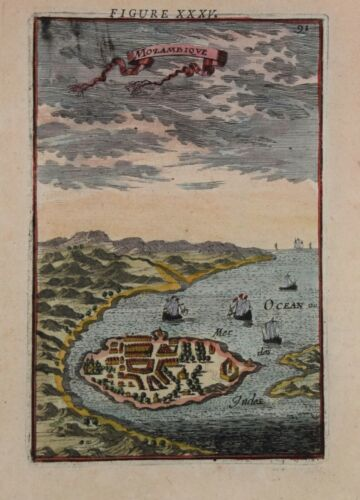A MAP OF MOZAMBIQUE BY MALLET, 1683.