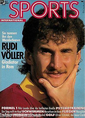 Magazin Sports 11/1987,Rudi Völler-AS Rom,Niki Lauda,Oliver