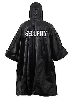 Black Security Vinyl poncho