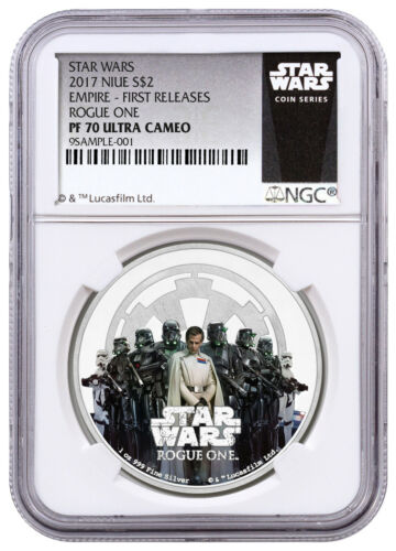2017 Niue $2 1 oz Silver Star Wars Rogue One Empire NGC PF70 FR SKU43926