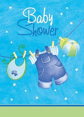 Baby Shower Invitation Invites Boys Clothesline 8 ct Party Supplies (Baby Shower Clothesline)