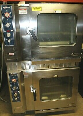 Alto Shaam Model 7.14 Mlgs Double Stack Natual Gas Combitherm Steamer Combi Oven