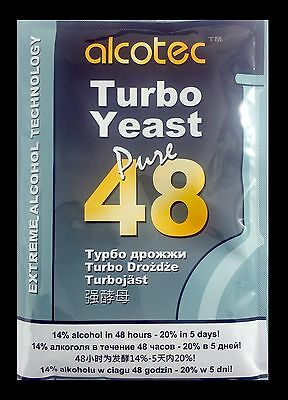 ALCOTEC TURBO YEAST FAST 48 HOUR TURBO YEAST 20% HOMEBREW ALCOHOL WHISKEY STILL