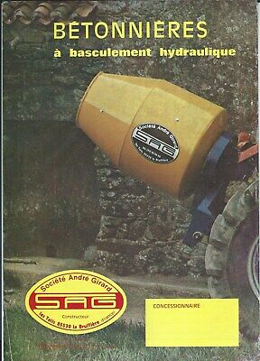 Equipment Brochure - Andre Girard Betonniere Cement Mixer French Lang E5634