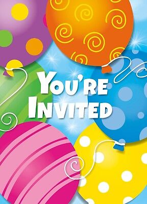 Balloon Invitations (Balloon Twinkle Birthday Party Invitations Invites Party Decoration Supply 8)