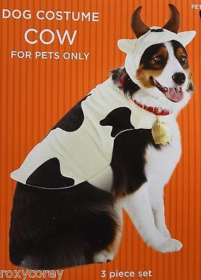 Halloween Black & White Cow Pet Dog Costume Size Medium 15-30 lbs 14-18 in NWT