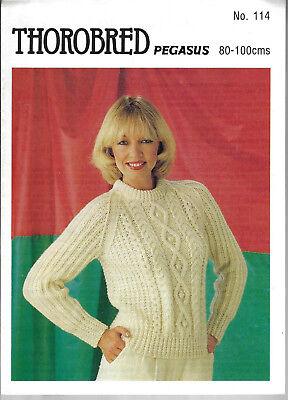 Винтажные Women's Cable Aran Sweater Thorobred