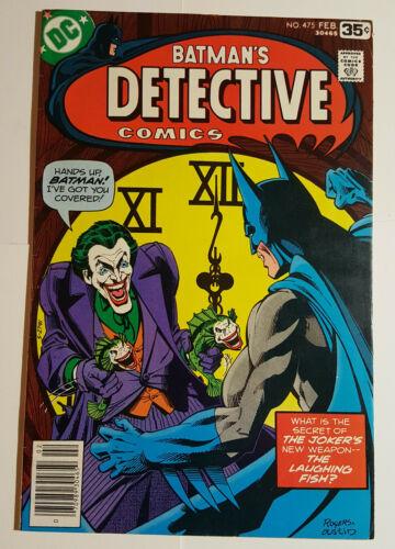 Detective Comics #475 Batman Joker Cover 1st Laughing Fish Marshall Rogers art