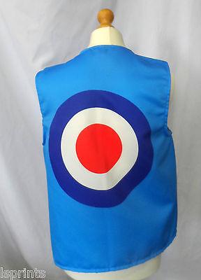 Lustige NEUHEIT Weste blau Mod Ziel Kostüm Spass Geschenkidee Party Festival (Kostüme Ideen Erwachsene)