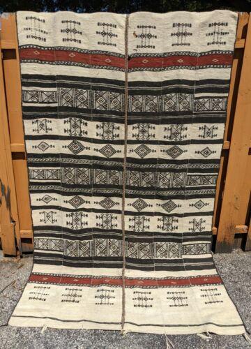Vintage West African Fulani Woven Sheep Wool Khasa Blanket