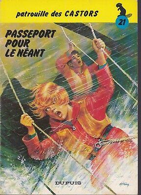 BD-Patrouille des Castors - N°21 - EO - Passeport pour le néant -1979 -BE-Mitacq