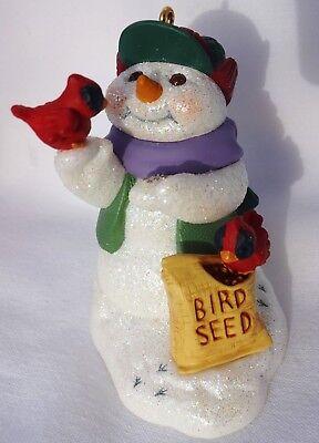 2000 Hallmark Snow Buddies #3 Cardinal Bird Seed  No Box