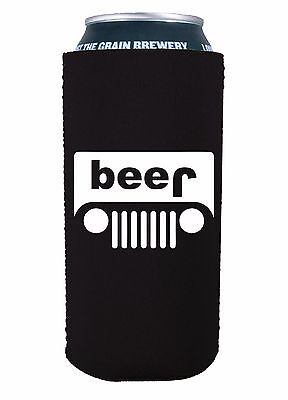 Beer Truck (jeep) Funny 16 oz Pint Can Coolie, Choice of Color Pounder, Tall Boy (16 Oz Pint)