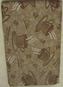 Cappuccino COFFEE PEVA Vinyl Tablecloth 52