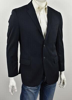 JOSEPH ABBOUD Dark Navy Blue Super 120's Italian Wool Regular Fit Sportcoat 40R