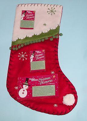 Roman Better Homes and Gardens stocking felt, photo pockets Christmas