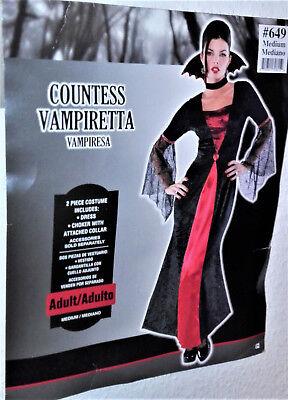Kostüm Gräfin Vampiretta  Vampirkostüm Vampir Fasching Karneval Gothic 36/38