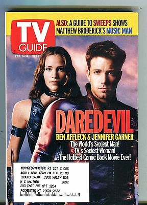 TV Guide Magazine February 8-14 2003 Ben Affleck Daredevil EX w/ML 100616jhe