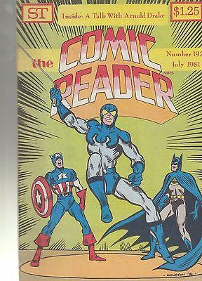 COMIC READER #192 fanzine (1981) Blue Beetle Batman Capt America Galactus covers
