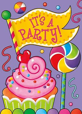 Candy Party Birthday Party Invitations Invites Party Supply 8 ct