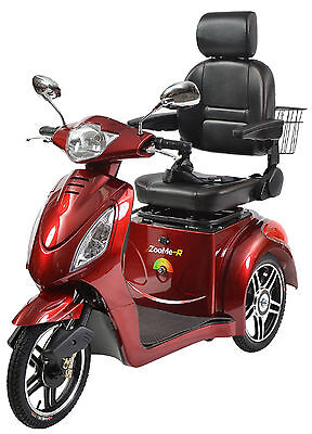 Drive Medical ZOOME-R318CS Recreational 3 Wheel Electric Power Mobility Scooter