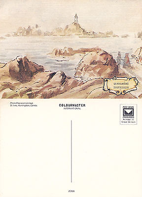 1990's LA CORBIERE LIGHTHOUSE JERSEY CHANNEL ISLANDS UNUSED COLOUR POSTCARD