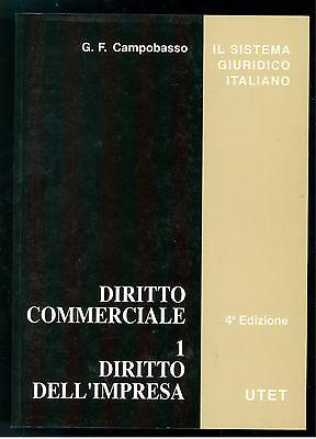 CAMPOBASSO GIAN FRANCO DIRITTO COMMERCIALE DIRITTO IMPRESA UTET 2004