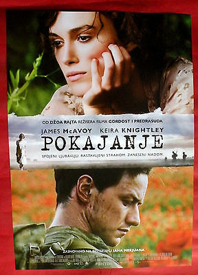 ATONEMENT 2007 JAMES MCAVOY KEIRA KNIGHTLEY WRIGHT UNIQUE SERBIAN MOVIE POSTER3