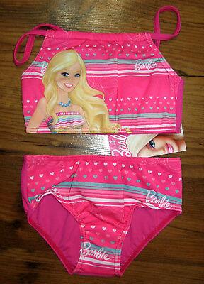 Barbie Bikini Tankini Set Größe 98 Pink Bademode für Mädchen Badeanzug