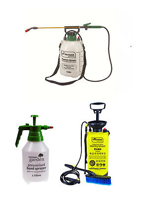 Garden Pressure Sprayer Hand Pump Portable Spray Bottle Water Weed Clean
