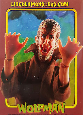 MEGO MUSEUM LINCOLN MONSTERS THE WOLFMAN PROMO TRADING CARD # 4
