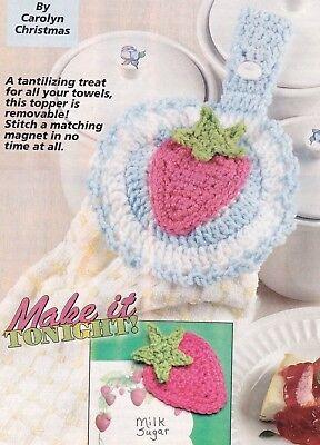 SWEET Strawberry Delight Kitchen Set/CROCHET PATTERN INSTRUCTIONS ONLY
