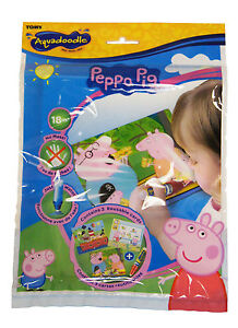 TOMY Aquadraw Aquadoodle Mini Mats Peppa Pig Disney Princess Chuggington 2 Pens