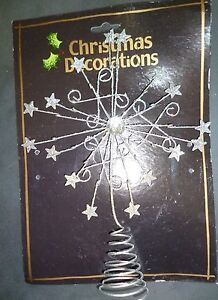 27cm-Silver-Wired-Glitter-Star-Tree-Top-Star-Christmas-Decoration-MI7