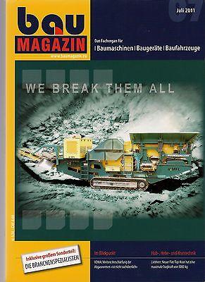 BauMagazin Juli 2011 (Schwerpunkt Maschinen-, Fahrzeug- und Antriebstechnik)