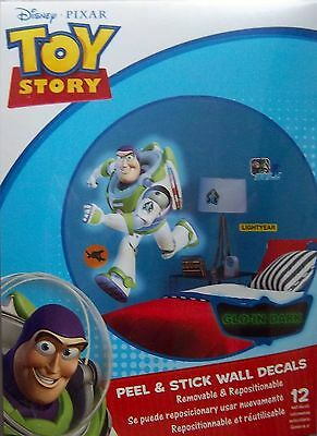 BUZZ LIGHTYEAR TOY STORY PEEL & STICK WALL DECALS APPLIQUES -