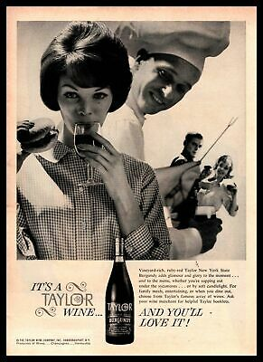 1962 Taylor New York State Burgundy Wine Hammondsport New York Vintage Print Ad