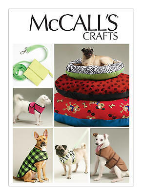 M6455 Dog Bed in 3 sizes Leash Case Harness Vest Coats MCalls Sewing Pattern