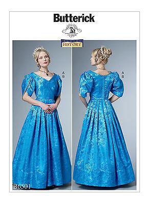 BUTTERICK 1800's 19th CENTURY VICTORIAN DRESS & CHEMISETTE COSTUME PATTERN 6-22 - 1800 Dress Costume