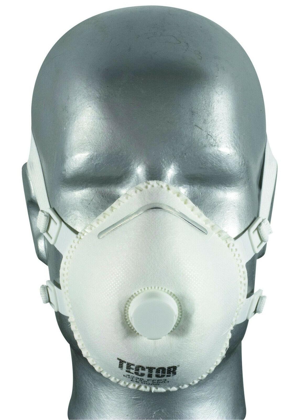 TECTOR® FFP3 D Dolomit Feinstaubmaske mit Ventil Mundschutz Atemschutz Maske